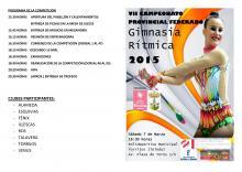 PROGRAMA COMPLETO CAMPEONATO PROVINCIAL FEDERADO 2015